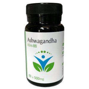 Ashwaghanda KSM 66 – 500mg – 60 Capsules